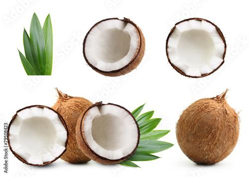Leinwandbild Motiv Coconut isolated