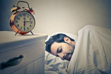 Asleep man