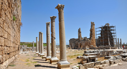 Ruins of the ancient Anatolian city Perge