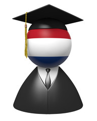Netherlands college graduate concept for schools and education