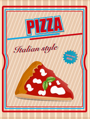 Vintage pizza poster design