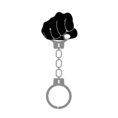 handcuffs vector illustration