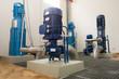 Leinwandbild Motiv Pumpenanlage Wasserwerk mehrere Pumpen