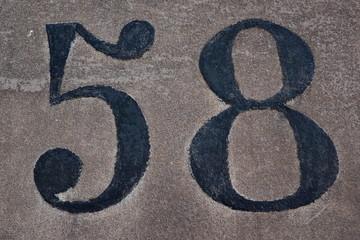 58, cinquante huit, achtundfünfzig, cinquantotto, fifty-eight