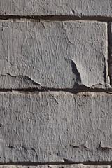 briques peintes en blanc, peinture craquelée