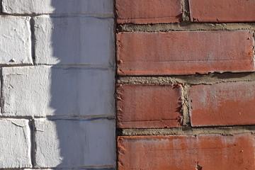 briques blanches et rouges