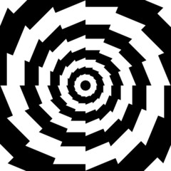Concentric abstract symbol, gear teeth sixteen
