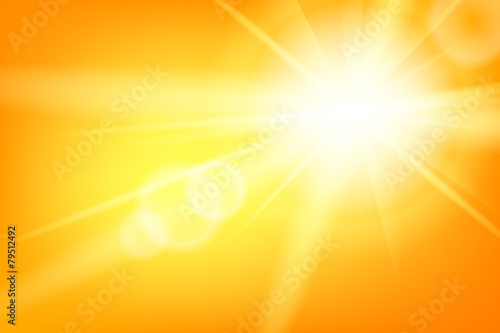 Nature sunny abstract summer background with sun poster