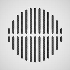 Vintage style audio dinamic illustration