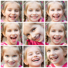 collage laughing girl