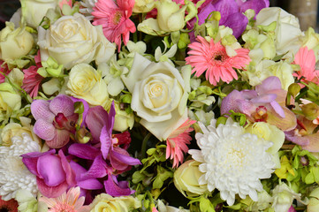 beautiful bouquet background flowers