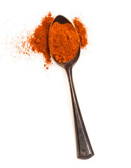 Red Chili Pepper powder in spoon