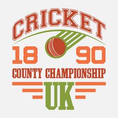 Cricket County Championship t-shirt design