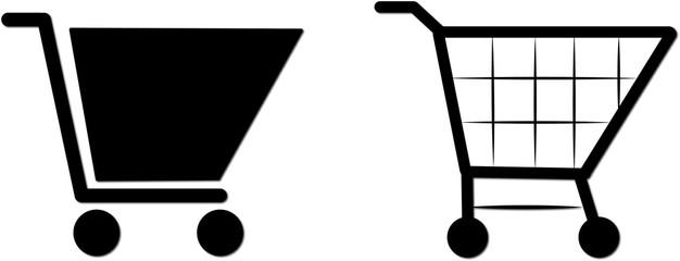 Illustrazione icone carrello spesa