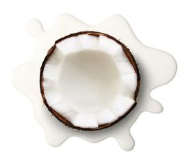 Coconut milk isolated