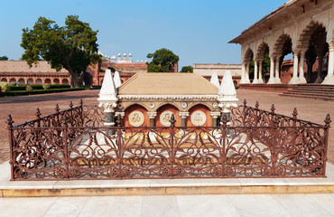 Tomb of John Russell Colvin inside Red Agra Fort