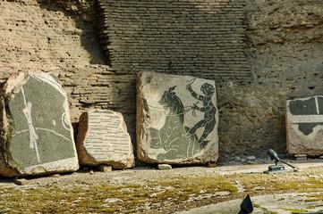 fresco in Baths of Caracalla