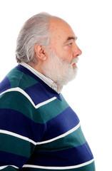 Profile of senior man with beard
