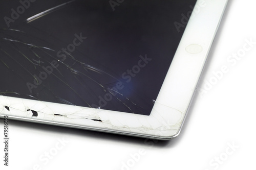 Leinwanddruck Bild Broken Tablet