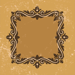 Vector decorative frame Design Elements Isolated On Beige Backgr