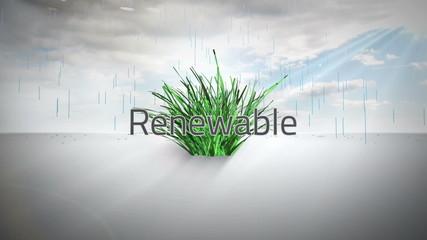 Environmental buzzwords with logo