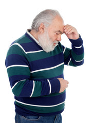 Elderly man with a gesture of having forgotten something