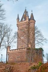 Der Wilhelmsturm, das Wahrzeichen von Dillenburg in Nordhessen