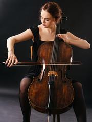 Beautiful cellist