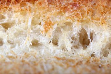 Tasty sweet bun close up