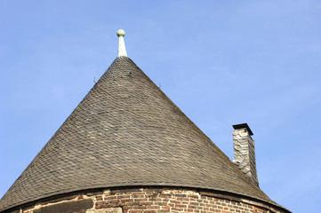 rundes Dach eines Turmes