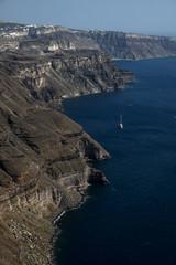 Santorini volcanic cliffs