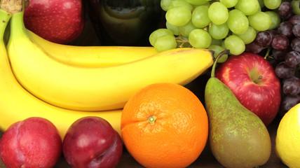 Colorful fresh fruits.