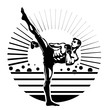 Kickboxing.Illustration in the engraving style. - 79519602