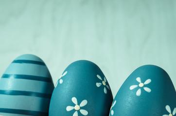 blue easter eggs decoration