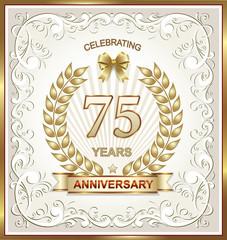 Anniversary postcard 75 years