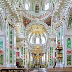 Interior of Mannheim Jesuit Church, Germany