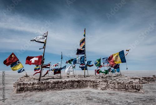Papiers peints Amérique du Sud World national flags during dakar in bolivia