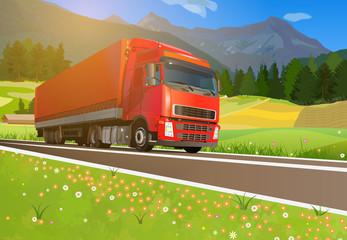 Truck cargo transportation