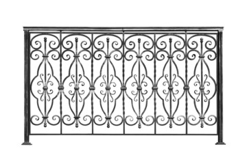 Decorative banisters, fence.