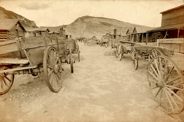 Old west, Old trail town, Cody, Wyoming, USA
