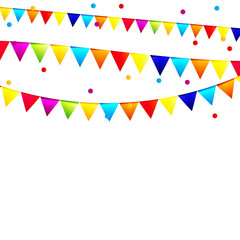 Party Background with Flags Vector Illustration.