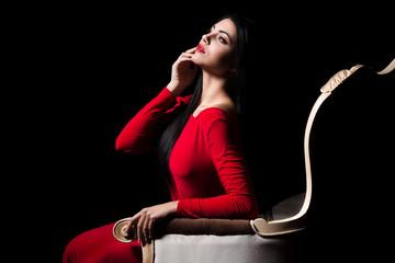 Elegant woman background
