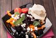 Fresh beetroot salad closeup