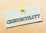 Credibility Message. Concept Image poster