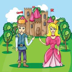 illustration of Prince and Princess