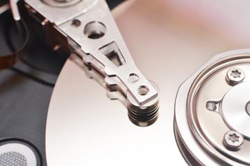 disassembled hard disk drive