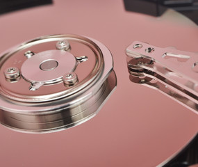 disassembled hard disk drive