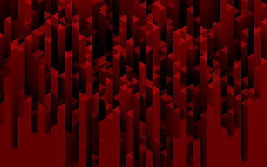 Red triangles abstract background