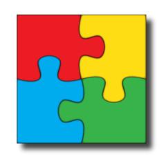 Logo puzzle colorato