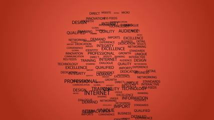 Business buzzwords in shape of head